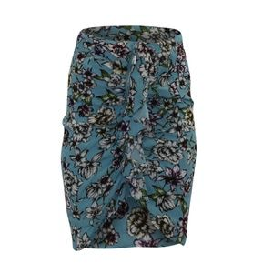Guess Dotty Ruched Zipper Skirt Riot Bloom Print B